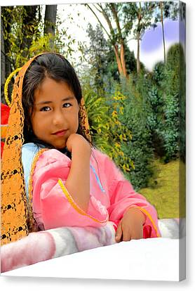 Cuenca Kids 531 Canvas Print by Al Bourassa