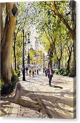 Cuesta Genil Canvas Print by Margaret Merry