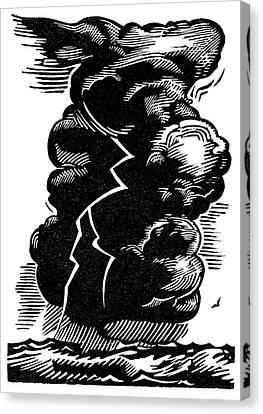 Cumulonimbus Thunderstorm Canvas Print by Gary Hincks
