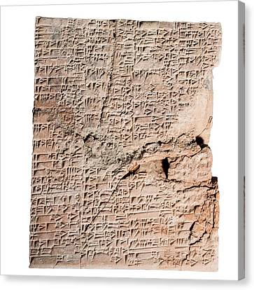 Cuneiform Clay Tablet Canvas Print by Photostock-israel
