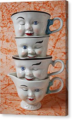 Cup Faces Canvas Print by Garry Gay