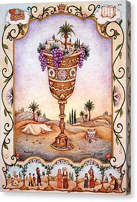 Cup Of Blessings - Gefen Canvas Print by Michoel Muchnik