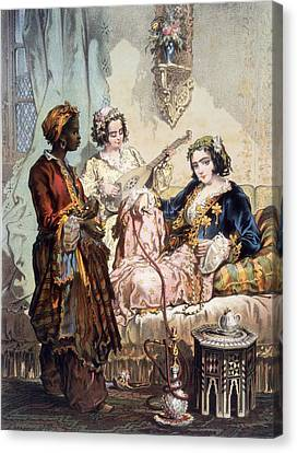 Cup Of Coffee, 1858 Canvas Print by Amadeo Preziosi