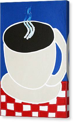 Cup Of Coffee Canvas Print by Matthew Brzostoski