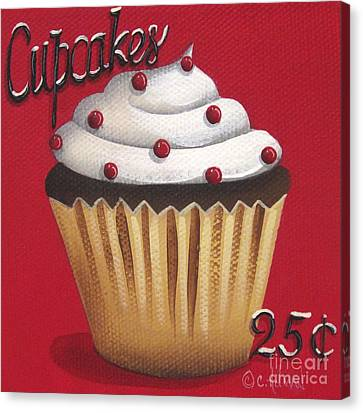 Cupcakes 25 Cents Canvas Print by Catherine Holman