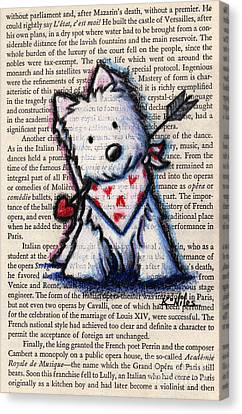 Cupid Westie Canvas Print by Kim Niles