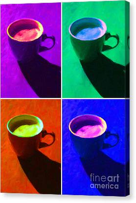 Cuppa Joe - Four Canvas Print by Wingsdomain Art and Photography