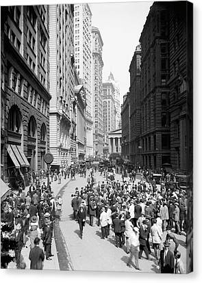 Curb Brokers Canvas Print by Library Of Congress