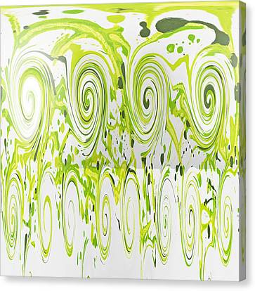 Curly Greens Canvas Print by Alli Cullimore