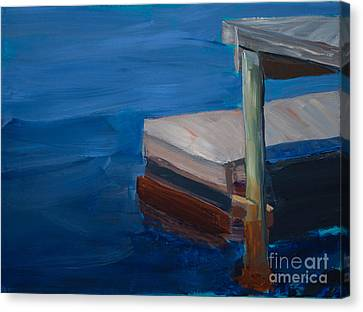 Currituck Dock Canvas Print by Paulette B Wright