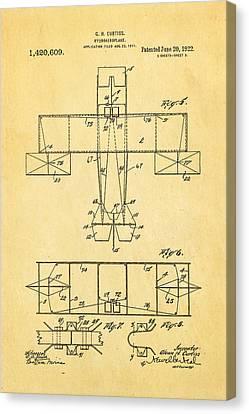 Curtiss Hydroaeroplane Patent Art 3 1922 Canvas Print by Ian Monk