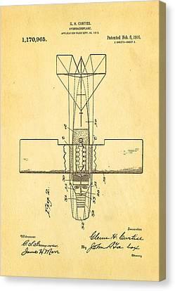 Curtiss Hydroplane Patent Art 2 1916 Canvas Print by Ian Monk