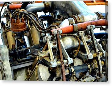 Curtiss Ox-5 Airplane Engine Canvas Print by Michelle Calkins
