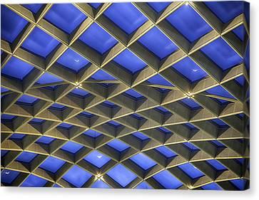 Curvilinear Skylight Structure  Canvas Print by Lynn Palmer