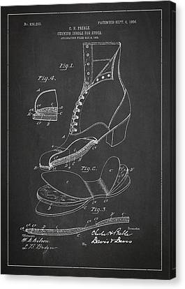 Cushion Insole For Shoes Patent Drawing From 1905 Canvas Print by Aged Pixel