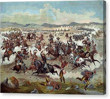 Custer's Last Charge Canvas Print by Unknown