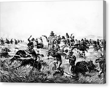 Custer's Last Fight, 1876 Canvas Print by Granger