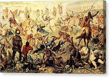 Custer's Last Fight Detail Canvas Print by Unknown