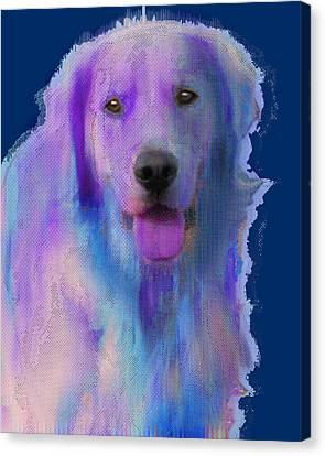 Custom Pet Portrait Dog Canvas Print by Tony Rubino