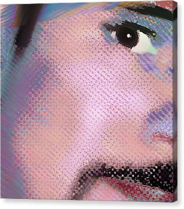 Custom Portrait Family 1 Adult Son 1 Canvas Print by Tony Rubino