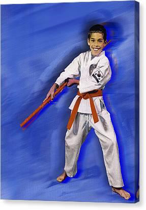 Custom Portrait Family 1 Child Sports Canvas Print by Tony Rubino