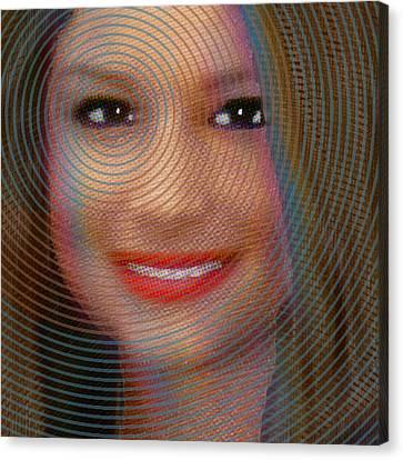 Custom Portrait Family 2 Adult Daughter 1 Canvas Print by Tony Rubino