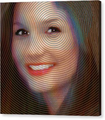 Custom Portrait Family 2 Adult Daughter 2 Canvas Print by Tony Rubino