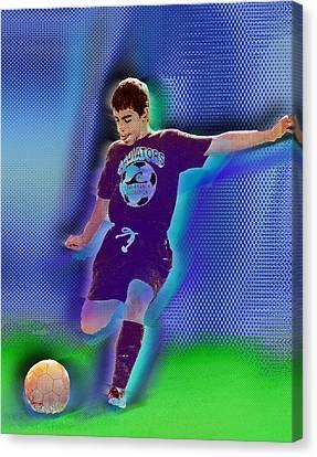 Custom Portrait Family Child Sports Soccer Canvas Print by Tony Rubino