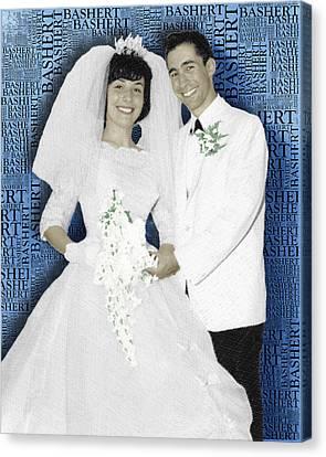 Custom Portrait Wedding  Parents Anniversary Canvas Print by Tony Rubino