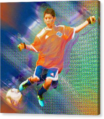 Custom Sport Portrait Family 3 Boy 1 Canvas Print by Tony Rubino
