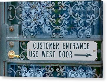 Customer Entrance Canvas Print by Nikolyn McDonald