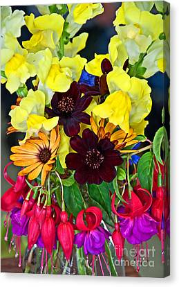 Cut Bouquet Of Beautiful Flowers Canvas Print by Valerie Garner