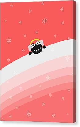 Cute Bug With Earflaps Canvas Print by Boriana Giormova