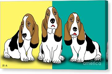 Cute Dogs  Canvas Print by Mark Ashkenazi