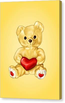 Cute Teddy Bear Hypnotist Canvas Print by Boriana Giormova