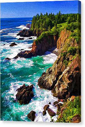 Cutler Coast White Water Canvas Print by Bill Caldwell -        ABeautifulSky Photography