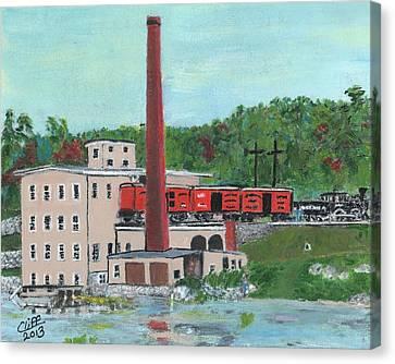Cutler's Mill - Circa 1870 Canvas Print by Cliff Wilson
