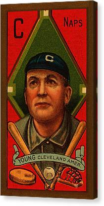 Cy Young 1911 Baseball Card Canvas Print by Movie Poster Prints