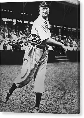 Cy Young Warming Up Canvas Print by Retro Images Archive