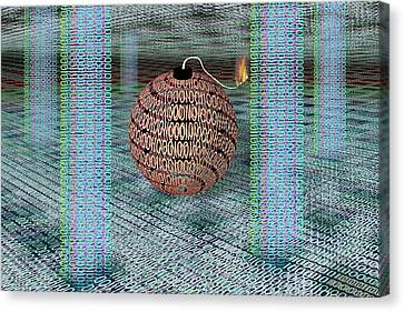 Cyber Bomb Canvas Print by Carol & Mike Werner