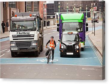 Cycle Superhighway Canvas Print by Ashley Cooper