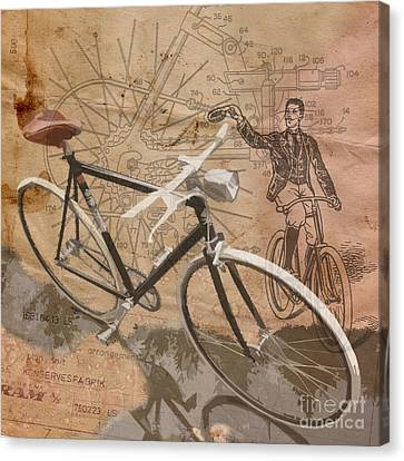 Cycling Gent Canvas Print by Sassan Filsoof