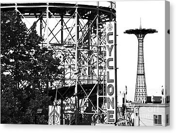 Cyclone At Coney Island Canvas Print by John Rizzuto