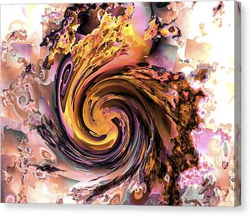 Cyclone Of Color Canvas Print by Claude McCoy