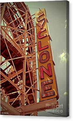 Cyclone Roller Coaster - Coney Island Canvas Print by Jim Zahniser