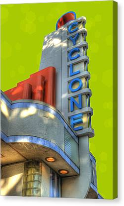 Cyclone Ticket Booth Canvas Print by Juli Scalzi
