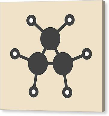 Cyclopropane Cycloalkane Molecule Canvas Print by Molekuul