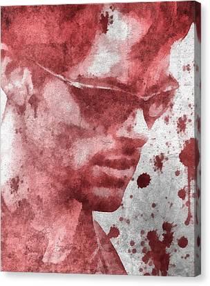 Cyclops X Men Paint Splatter Canvas Print by Dan Sproul
