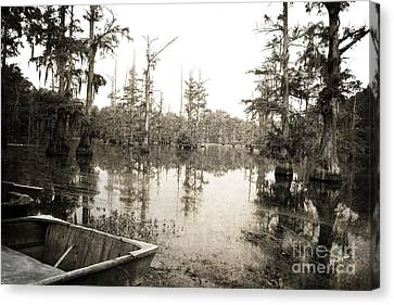 Cypress Swamp Canvas Print by Scott Pellegrin