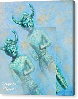 Cyprus Gods Of Trade. Canvas Print by Augusta Stylianou